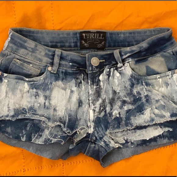 made in la Pants - Bleached Out Babes Denim Shorts (7)
